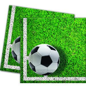 Procos Servítky Futbal zelené 33 x 33 20 ks