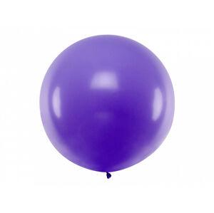 PartyDeco Guľatý latexový Jumbo balón 1m levanduľa