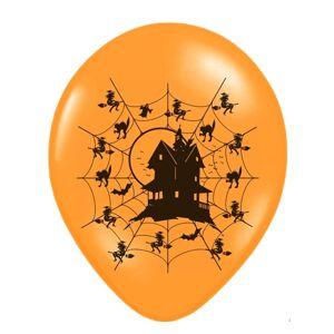 PartyDeco Balónik latexový Strašidelný dom
