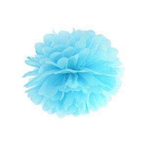 PartyDeco Pompom v tvare modrého kvetu 35 cm