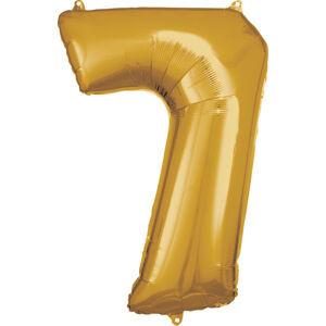 Amscan Balónik fóliový narodeninové číslo 7 zlatý 86cm