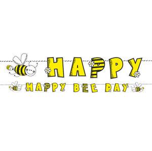 PartyDeco Narodeninový transparent včielka
