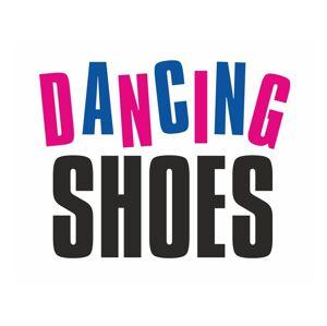 PartyDeco Samolepka na topánky - Tancujúce topánky