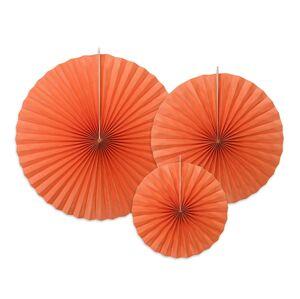 PartyDeco Rozety oranžové 3 ks