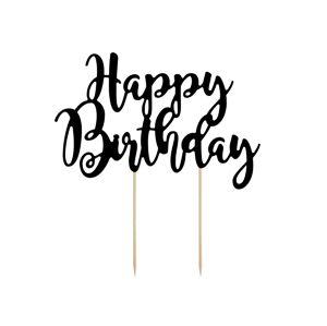"""PartyDeco Ozdoba na tortu  """"Happy Birthday"""""""