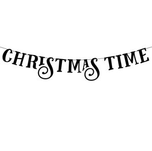 PartyDeco Banner Christmas time 14 x 80 cm
