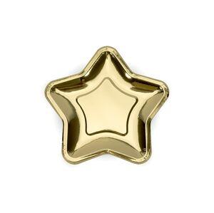 PartyDeco Taniere Hviezda - zlaté 18 cm