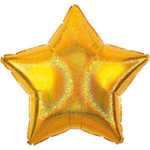 Amscan Fóliový balón Trblietavá Hviezda - zlatá