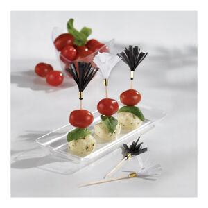 Amscan Ozdoby na cupcake strapce- čierne 24 ks