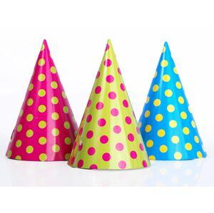 PartyDeco Párty čiapky bodkované 6ks