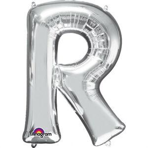 Amscan Mini fóliový balónik písmeno R 33 cm strieborný