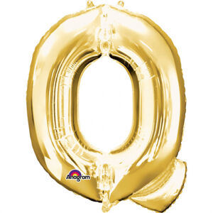 Amscan Mini fóliový balónik písmeno Q 33 cm zlatý