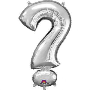 Amscan Mini fóliový balónik symbol ? 33 cm strieborný