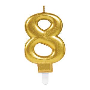 Amscan Narodeninová sviečka 8 zlatá