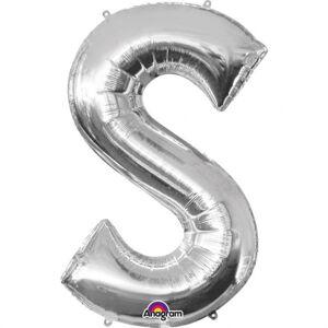 Amscan Fóliový balónik písmeno S 86 cm strieborný