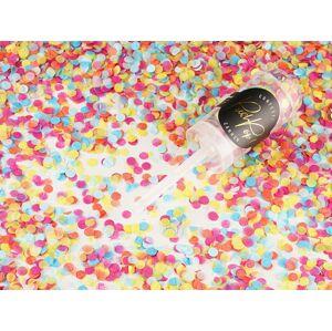 PartyDeco Malé Vystreľovacie konfety – mix farieb