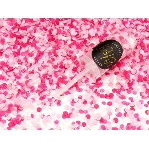 PartyDeco Malé Vystreľovacie konfety ružovej farby