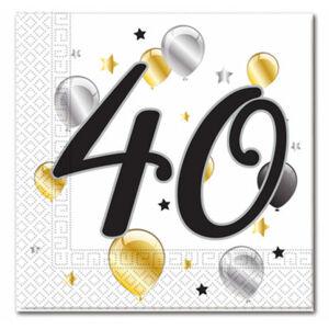 Procos Servítky s číslom 40 - milestone 20 ks