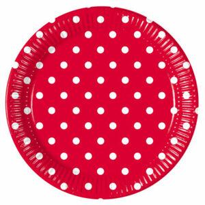 Procos Bodkované taniere - červené 8 ks