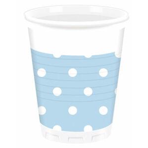 Procos Bodkované poháre - svetlo modré 10 ks