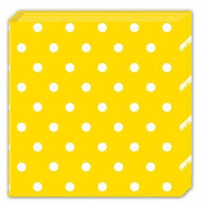 Procos Bodkované servítky - žlté 20 ks