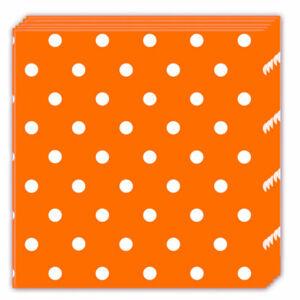 Procos Bodkované servítky - oranžové 33 x 33 cm 20 ks
