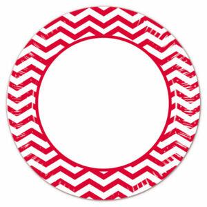 Procos Pruhované taniere - červené 8 ks