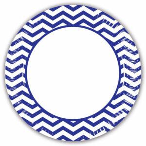 Procos Pruhované taniere - modré 8 ks