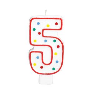 Amscan Veľká narodeninová sviečka 5