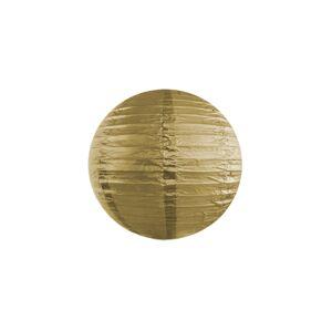 PartyDeco Okrúhly papierový lampión zlatý 20 cm