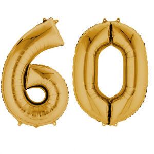 Amscan Fóliový balón v tvare čísla 60 zlatý