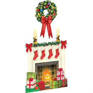Amscan Dekorácia - Vianočný Krb