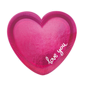 """Amscan Taniere v tvare srdca """"Love you"""" 6 ks"""