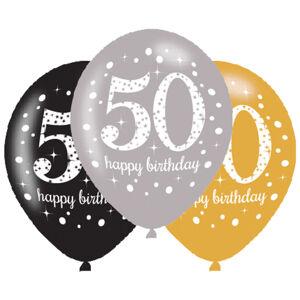 Amscan Latexové balóny narodeninové číslo 50 - 6 ks