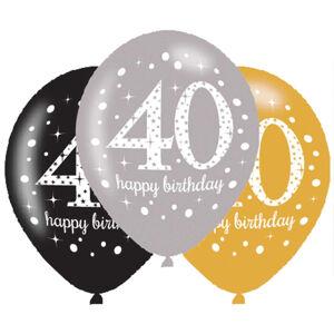Amscan Latexové balóny narodeninové číslo 40 - 6 ks