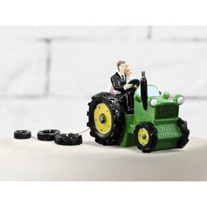 PartyDeco Ozdoba na tortu - Novomanželia na traktore