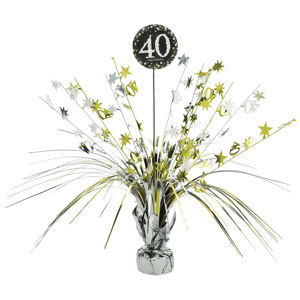 Amscan Dekorácia na stôl 40.narodeniny - Trblietavá zlatá 45,7 cm