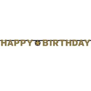Amscan Banner Happy Birthday - Trblietavá zlatá