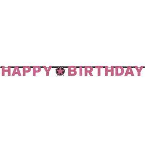 Amscan Banner Happy Birthday - Trblietavá ružová