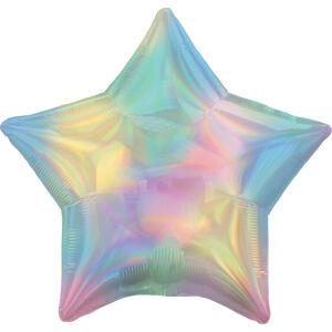 Amscan Fóliový balón - Holografická dúha v tvare Hviezdy