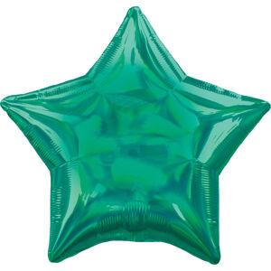 Amscan Fóliový balón - Holografická zelená Hviezda