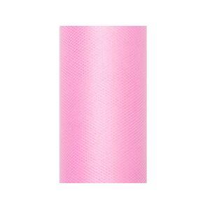 PartyDeco Tyl hladký - baby ružový 0,3x9m