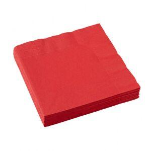 Amscan Červené servítky 25x25 cm