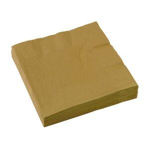 Amscan Zlaté servítky 25x25 cm