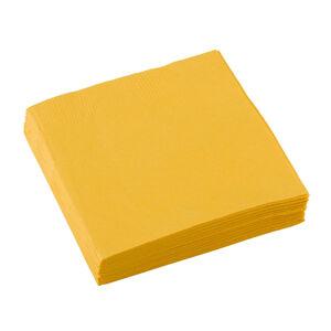 Amscan Servítky - Žltá 33x33 cm