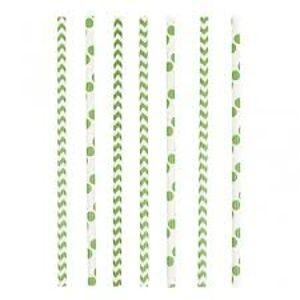 Amscan Slamky zelené 24 ks