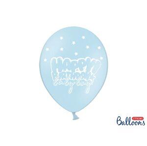 PartyDeco Pastelový balón - Happy Birthday Baby Boy 30 cm