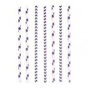 Amscan Slamky fialové 24 ks