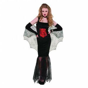 Amscan Dámsky kostým - zvodná Čierna vdova Veľkosť - Dospelí: L