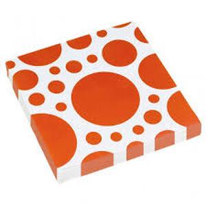 Amscan Servítky oranžové bodkované 33 x 33 cm 20 ks